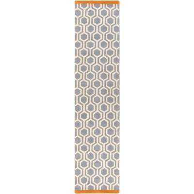 Hilda Eva Tangerine 2 ft. x 10 ft. Indoor Runner Rug