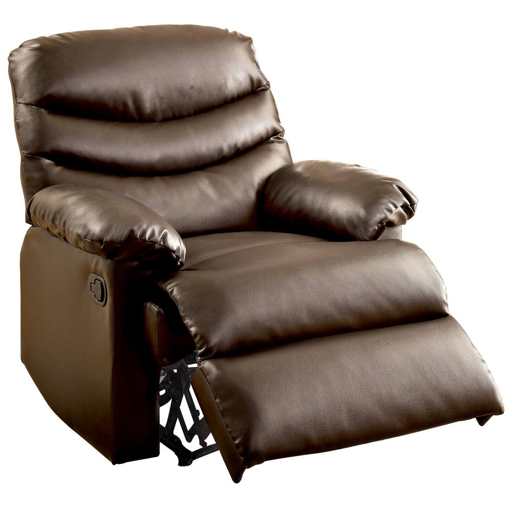 Furniture Of America Pleasant Valley Dark Brown Bonded Leather Recliner