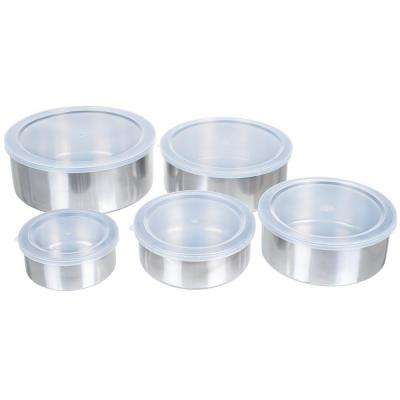 7.25 in. Stainless Steel Bowl Set (5-Pack)