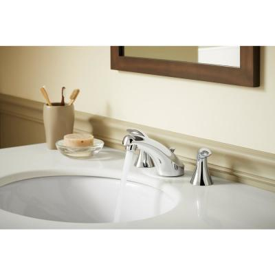 Coralais 8 in. Widespread 2-Handle Bathroom Faucet in Polished Chrome