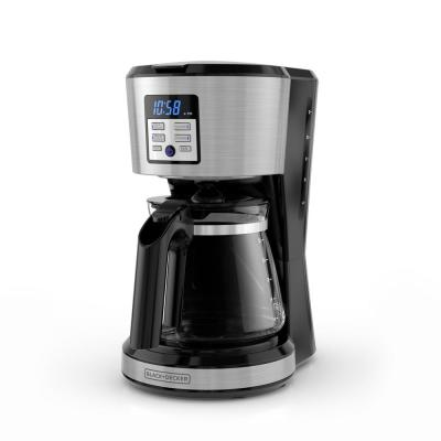 12-Cup Silver Accents Programmable Coffeemaker with Vortex Technology