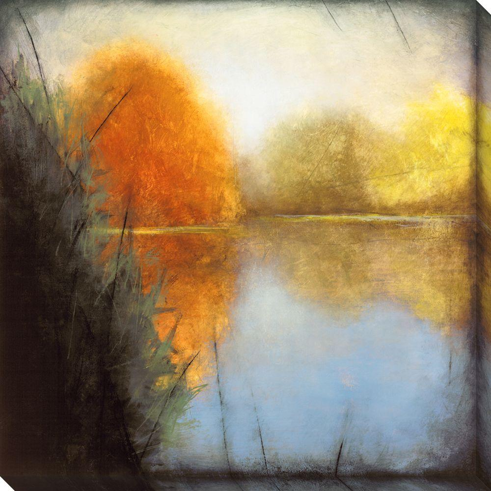 NEP Art 40 in. x 40 in. Autumn Marsh I Oversized Canvas Gallery Wrap