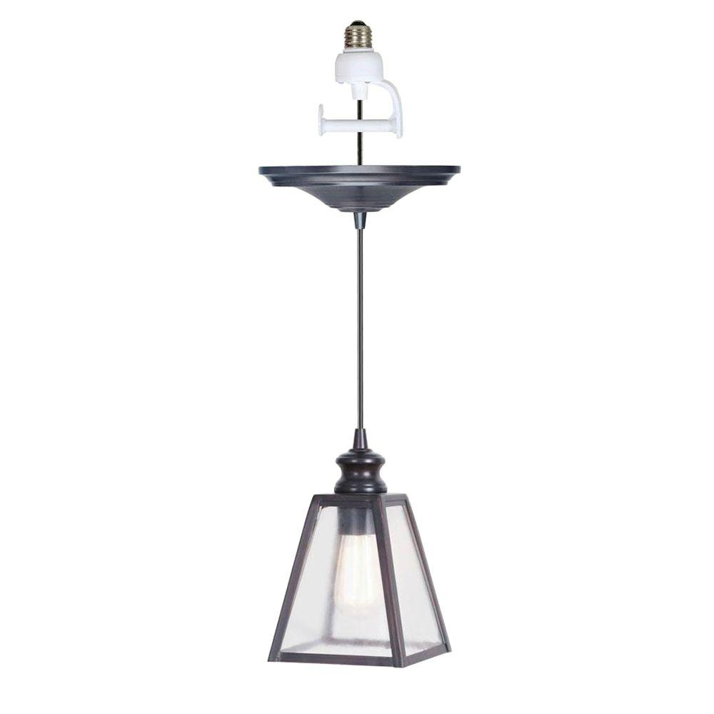 Home Decorators Collection Harper 1 Light Antique Bronze Pendant Conversion Kit 0845300280 The