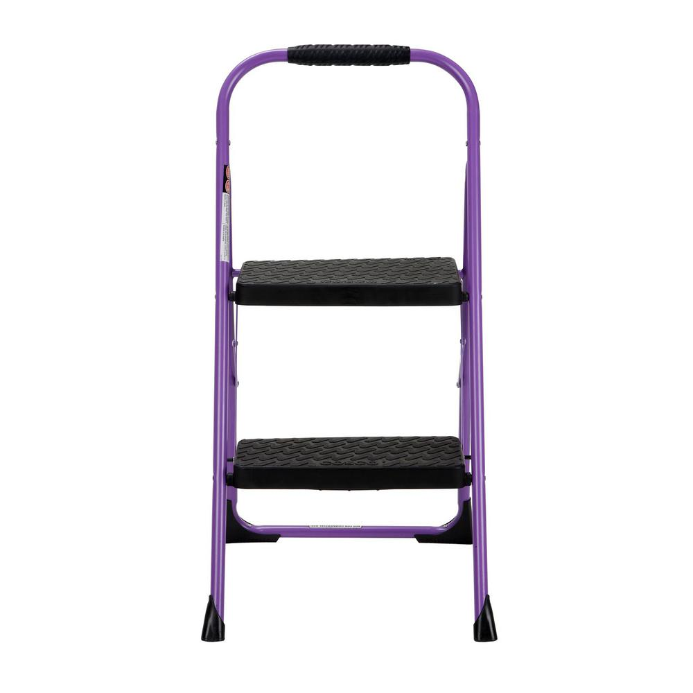 Miraculous Cosco 2 Step Steel Big Step Folding Step Stool With Type 3 Rubber Hand Grip In Purple Inzonedesignstudio Interior Chair Design Inzonedesignstudiocom