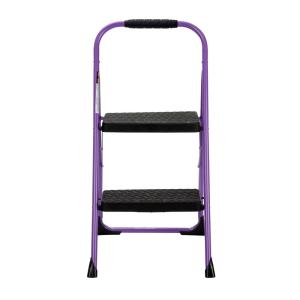 2-Step Steel Big Step Folding Step Stool with Type 3 Rubber Hand Grip in  sc 1 st  The Home Depot & Cosco Rockford 3-Step Mahogany Wood Step Stool Ladder with 225 lb ... islam-shia.org