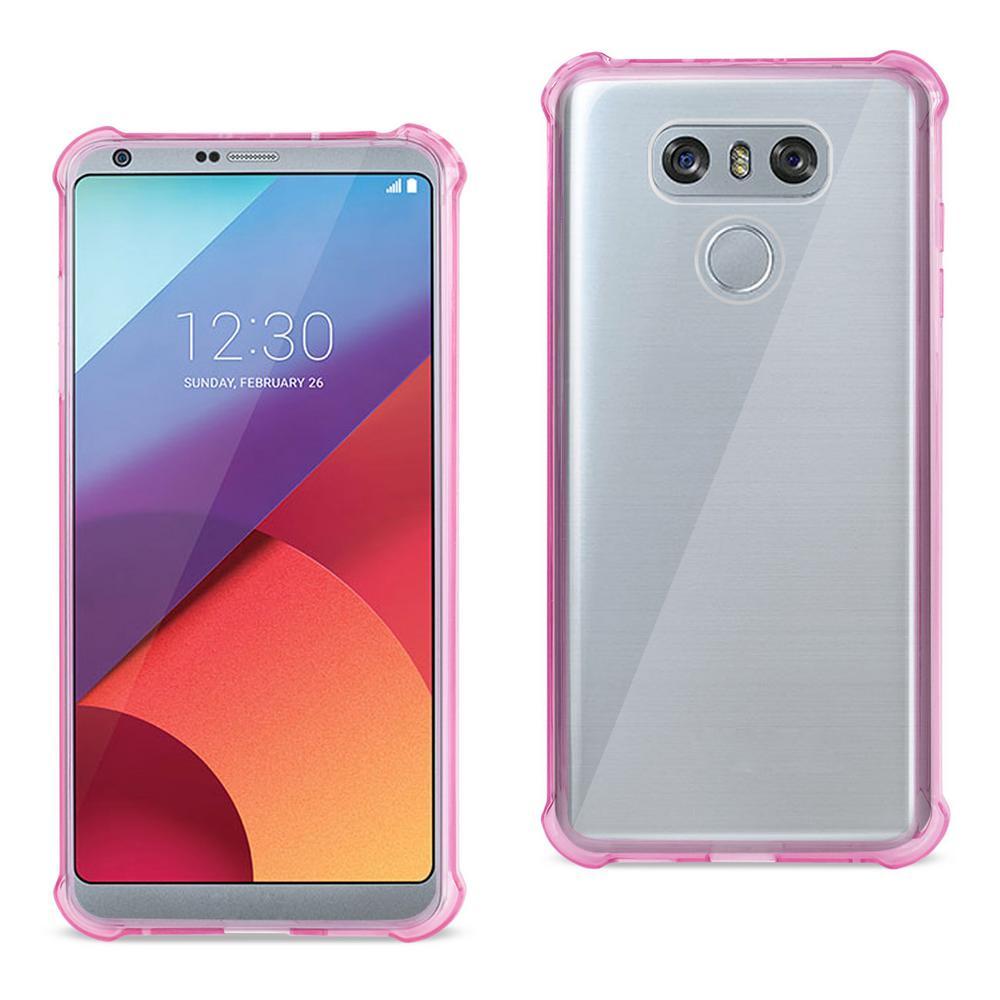REIKO LG G6 Air Cushion Case in Clear Hot Pink
