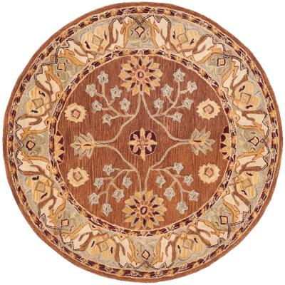 Safavieh Anatolia Tan Ivory 6 Ft X 6 Ft Round Area Rug An562b 6r The Home Depot