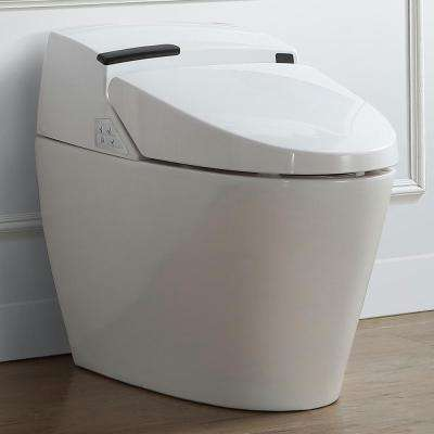 Smart 1-Piece 1.6 GPF Elongated Toilet and Bidet with Seat in White