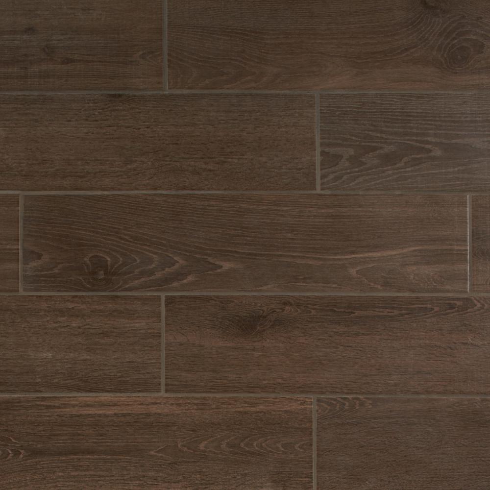 Daltile Lakewood Dark Brown 20 in. x 20 in. Ceramic Floor and Wall Tile  (20.20 sq. ft. / case)