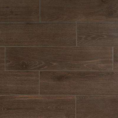 Lakewood Dark Brown 8 In X 36 Ceramic Floor And Wall Tile 13 51 Sq Ft Case