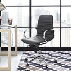 Groove Ribbed Back Office Chair in Gray