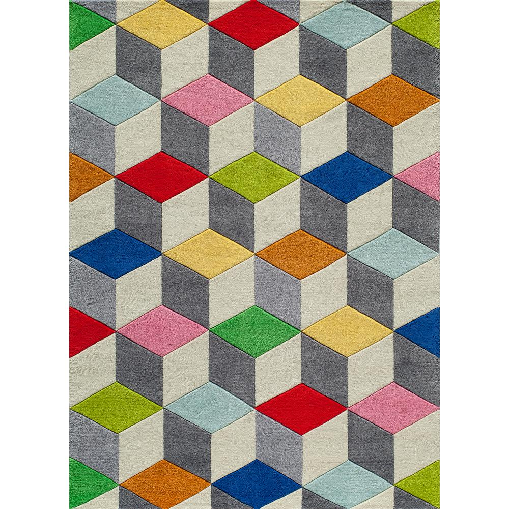 Momeni Lil Mo Hipster Color Cubes Multi 5 Ft X 7 Indoor Kids Area Rug Lmotwlmt15mti5070 The Home Depot
