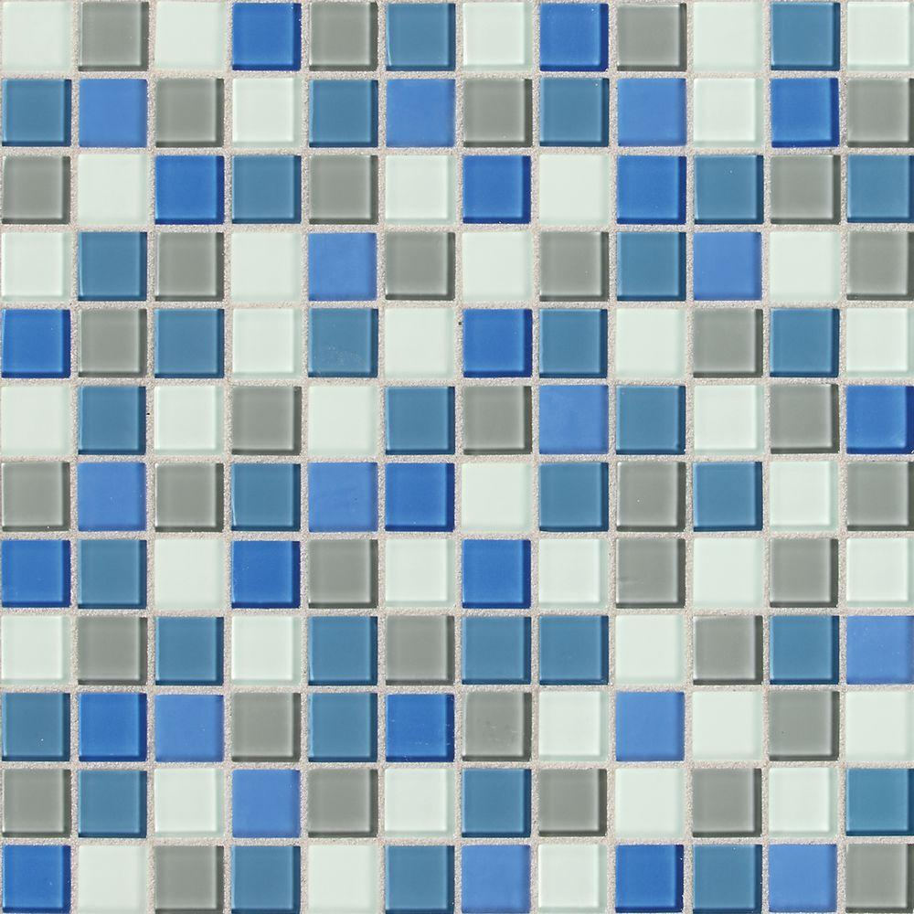 Daltile Illustrations Polo Blend 12 in. x 12 in. x 3 mm Glass Mesh ...