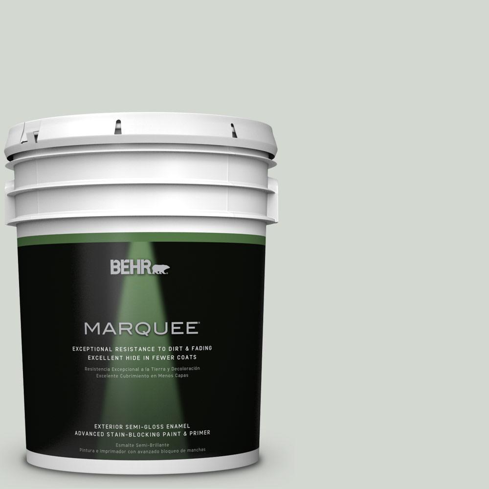 5-gal. #N410-2 Brook Green Semi-Gloss Enamel Exterior Paint