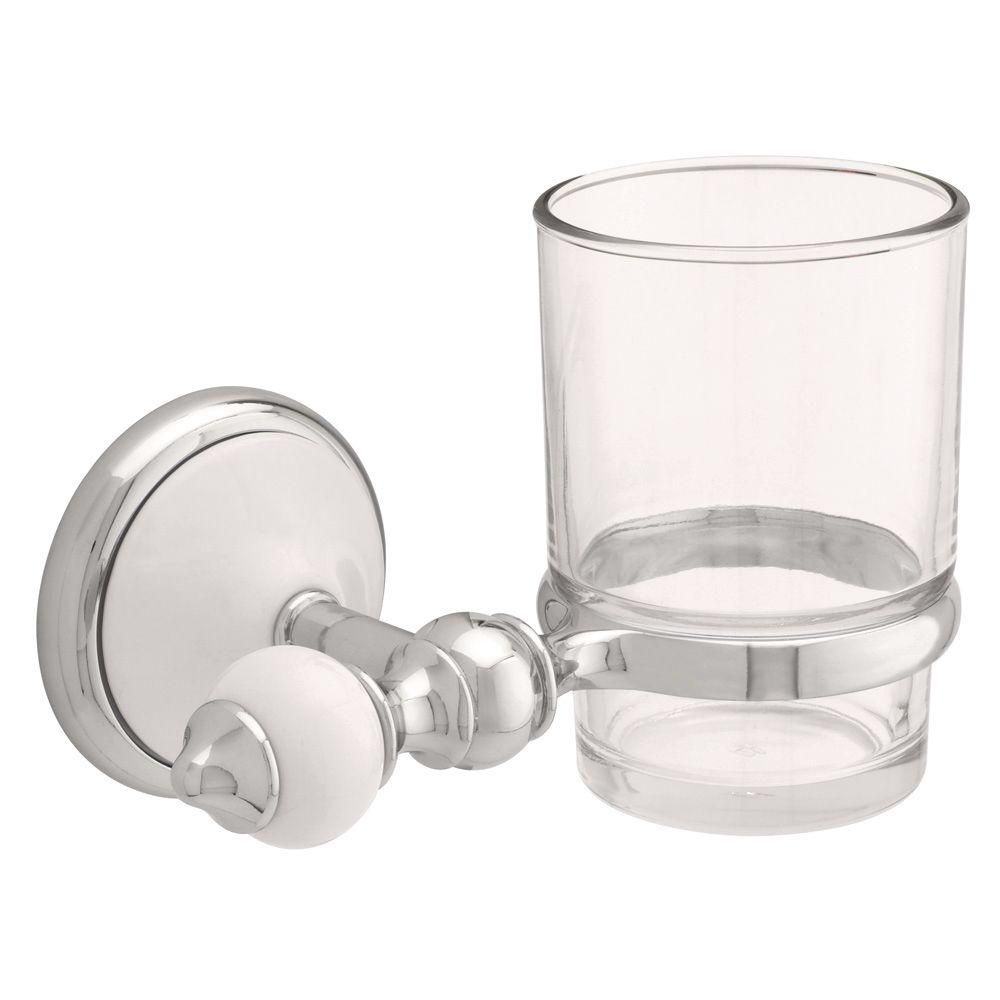 Alexandria Wall-Mounted Toothbrush and Tumbler Holder in Chrome