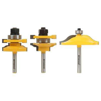 Raised Panel Cabinet Door Ogee 1/4 in. Shank Carbide Tipped Router Bit Set (3-Piece)