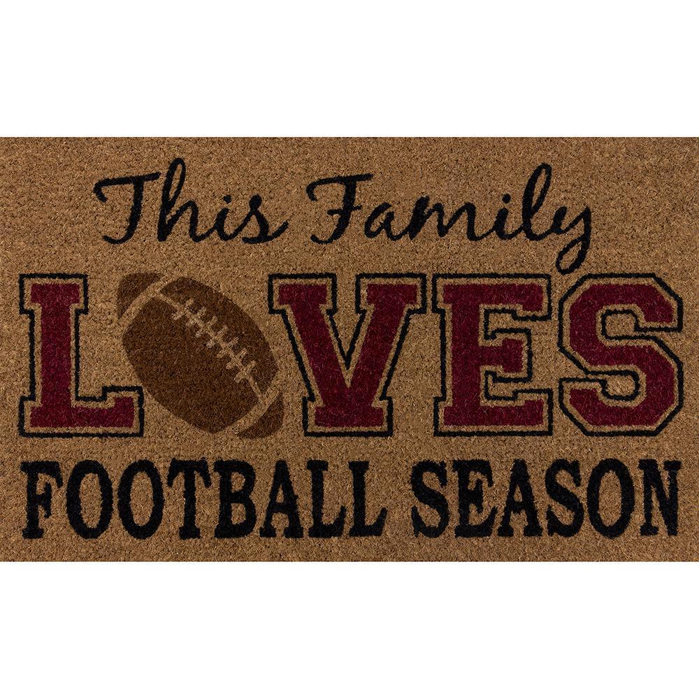 This Family Loves Football Season 18 in. x 30 in. Multi Door Mat