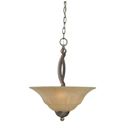 Concord 2-Light Brushed Nickel Pendant with Italian Marble Glass
