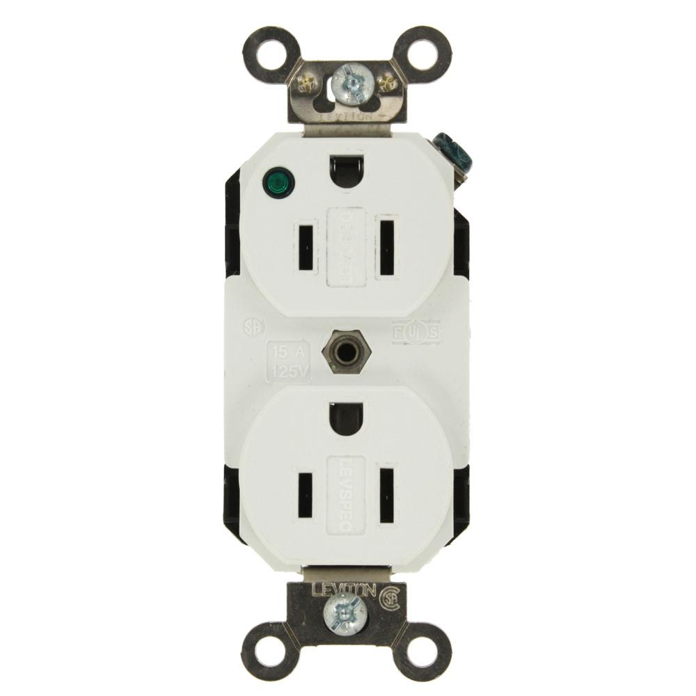 15 Amp Hospital Grade Extra Heavy Duty Self Grounding Duplex Outlet
