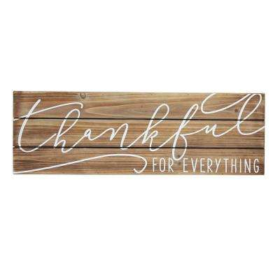 THANKFUL for EVERYTHING Planked Wood Wall Plaque