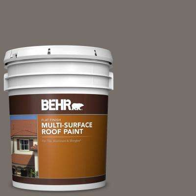 5 gal. #N200-6 Kindling Flat Multi-Surface Exterior Roof Paint