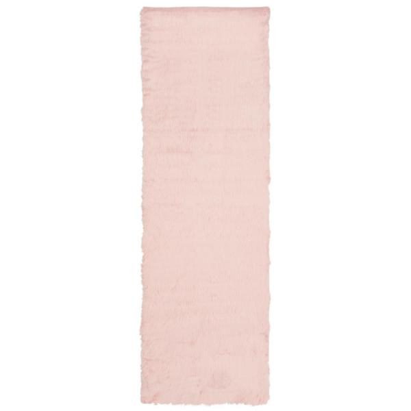 Faux Sheep Skin Pink 2 ft. 6 in. x 8 ft. Runner
