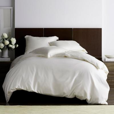 Legends Hotel Ivory TENCEL Lyocell Sateen Queen Duvet Cover