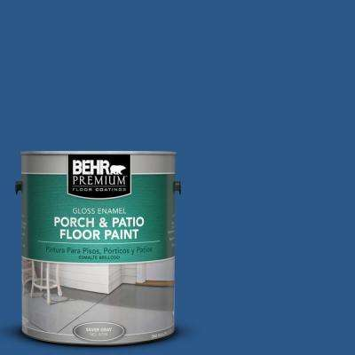 1 gal. #S-G-590 Southern Blue Gloss Interior/Exterior Porch and Patio Floor Paint