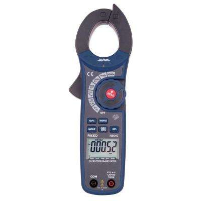 AC/DC Clamp Meter with Temperature and Non-Contact Voltage Detector