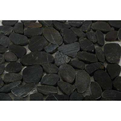 Pebble Rock Flat Bed 12 in. x 12 in. Marble Floor and Wall Tile