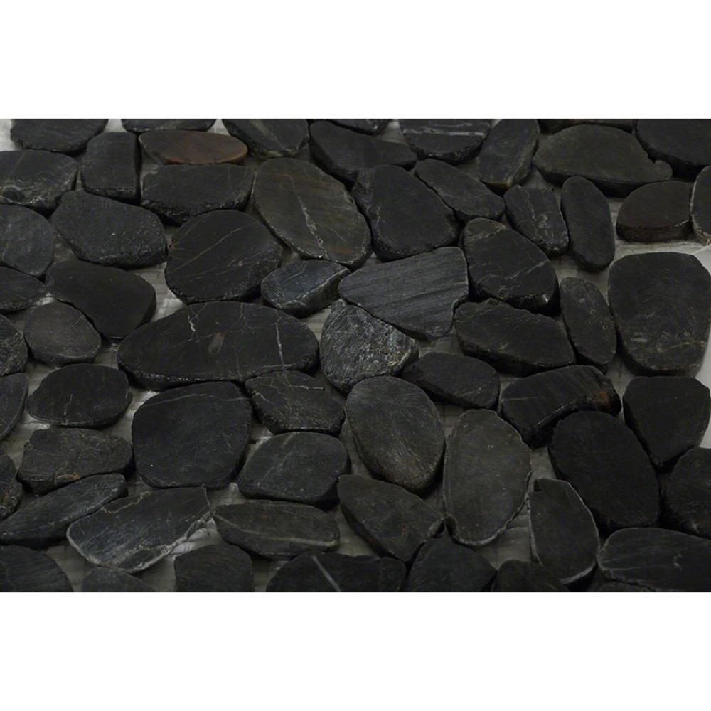 Ivy Hill Tile Pebble Rock Flat Bed 12 in. x 12 in. Marble Floor and Wall Tile