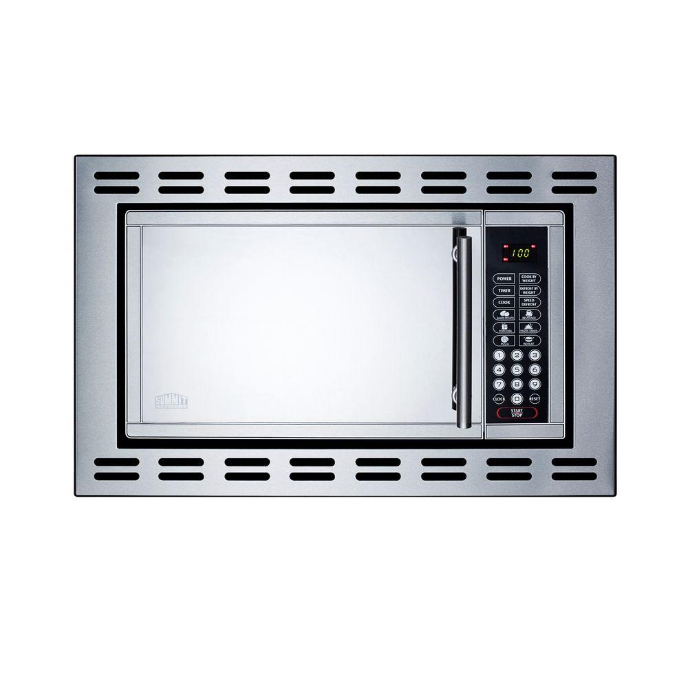 Summit Appliance 0.9 cu. ft. Built-In Microwave in Stainless Steel