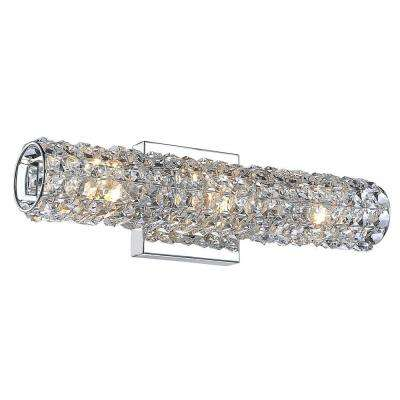 Chaselyn Collection 3-Light Chrome Wall Vanity Light