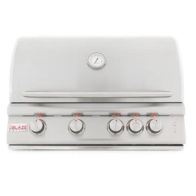 4-Burner Natural Gas Grill in Stainless Steel with Accent LED and Halogen Hood Lighting