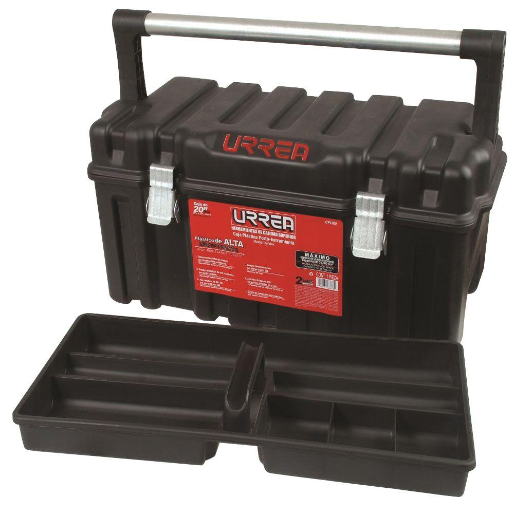 URREA 21 in. High Resistance Plastic Box with Metal Clasps and Removable Tray