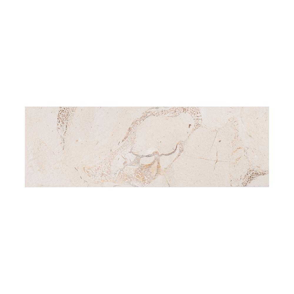 Creama 4 in. x 12 in. Washed Marble Field Wall Tile