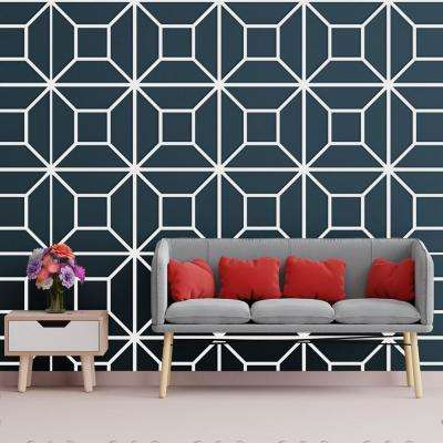 3/8 in. x 23-3/4 in. x 23-3/4 in. Large Marion White Architectural Grade PVC Decorative Wall Panels