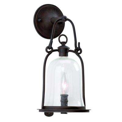 Owings Mill Natural Bronze Outdoor Wall Mount Lantern