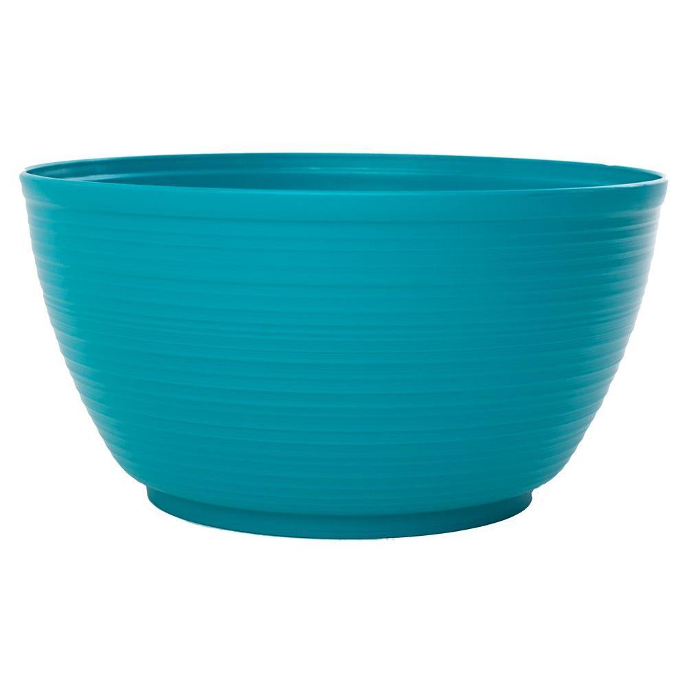 Bloem 15 in. Sea Struck Dura Cotta Plastic Plant Bowl
