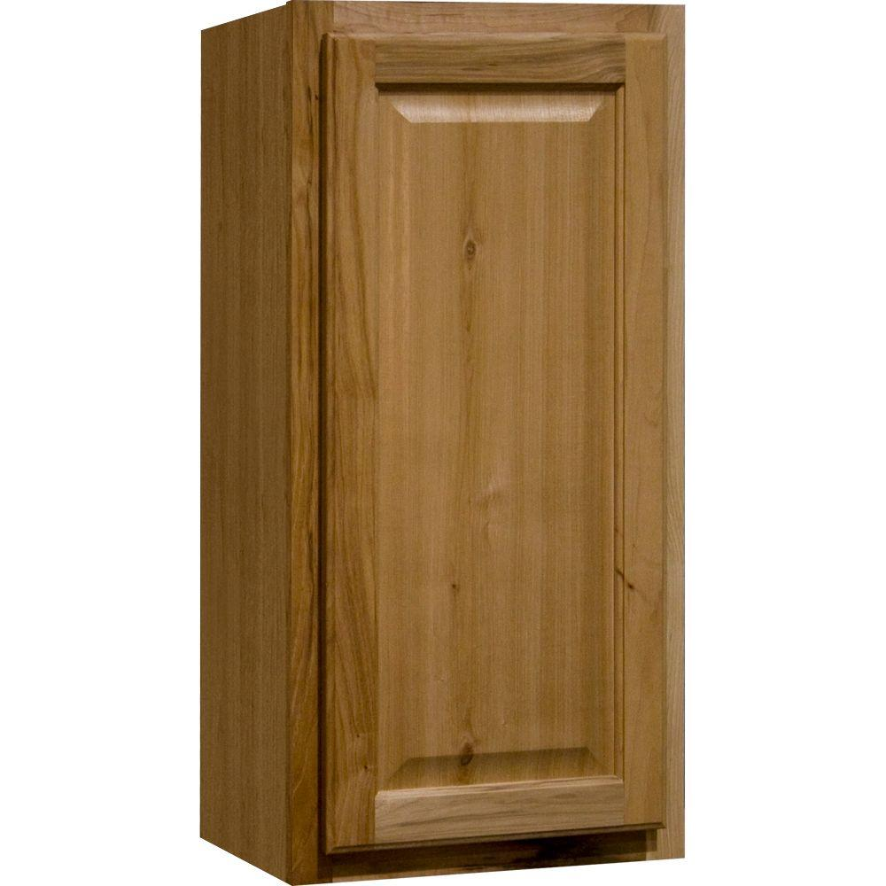 Kitchen cabinets quick - Hampton Bay Hampton Assembled 15x30x12 In Wall Kitchen Cabinet In Natural Hickory Kw1530 Nhk The Home Depot