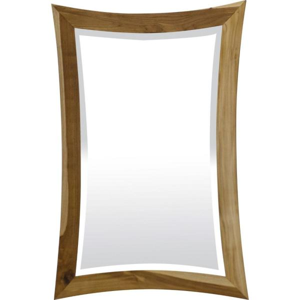 Homeroots Victoria 2 In X 24 In Classic Rectangle Framed Brown Vanity Mirror 376660 The Home Depot