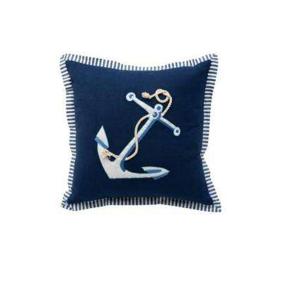 Anchor 18 in. Square Decorative Pillow