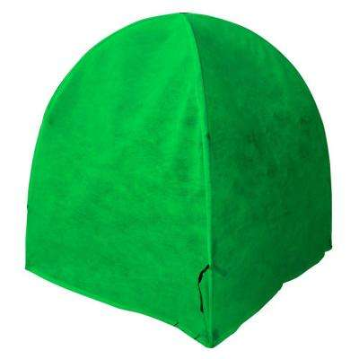 Frost Cover Heavy-Duty GEN II Synthetic Material 52 in. Pop-Open Framed Garden Green