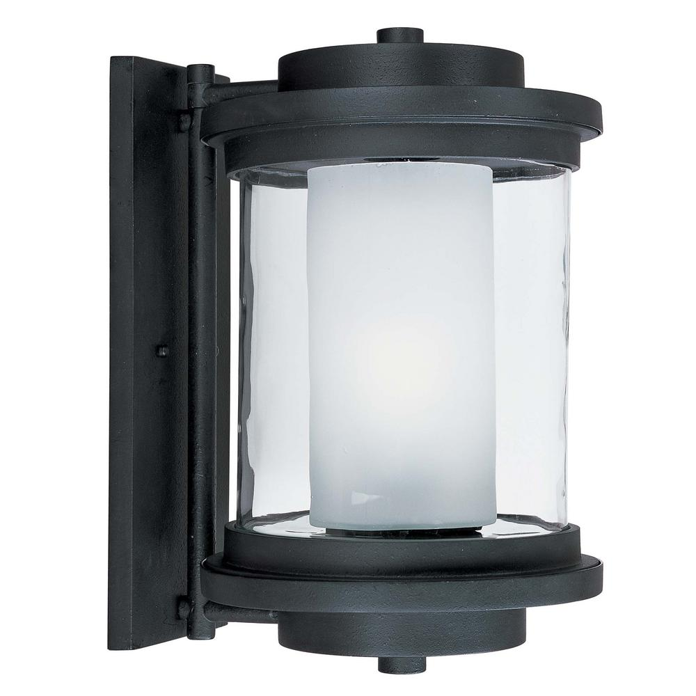 Lighthouse 10 in. W 1-Light Anthracite Outdoor Wall Lantern Sconce