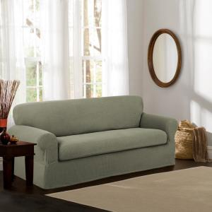 Maytex Reeves Stretch 2-Piece Dark Sage Sofa Slipcover 4100801jDSAG ...