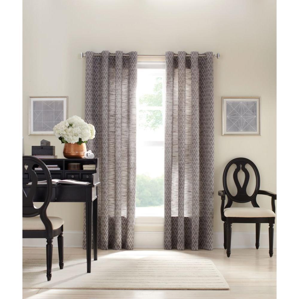 Zinc Diamond Sky Grommet Curtain