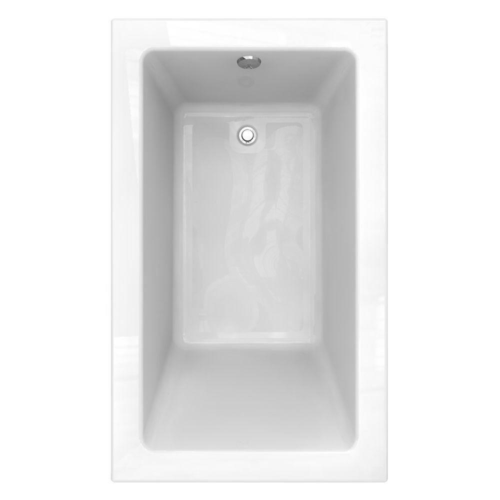 American Standard Studio 60 In. X 36 In. Reversible Drain Bathtub With Zero  Edge