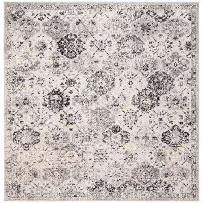 Madison Silver/Gray 5 ft. x 5 ft. Square Area Rug