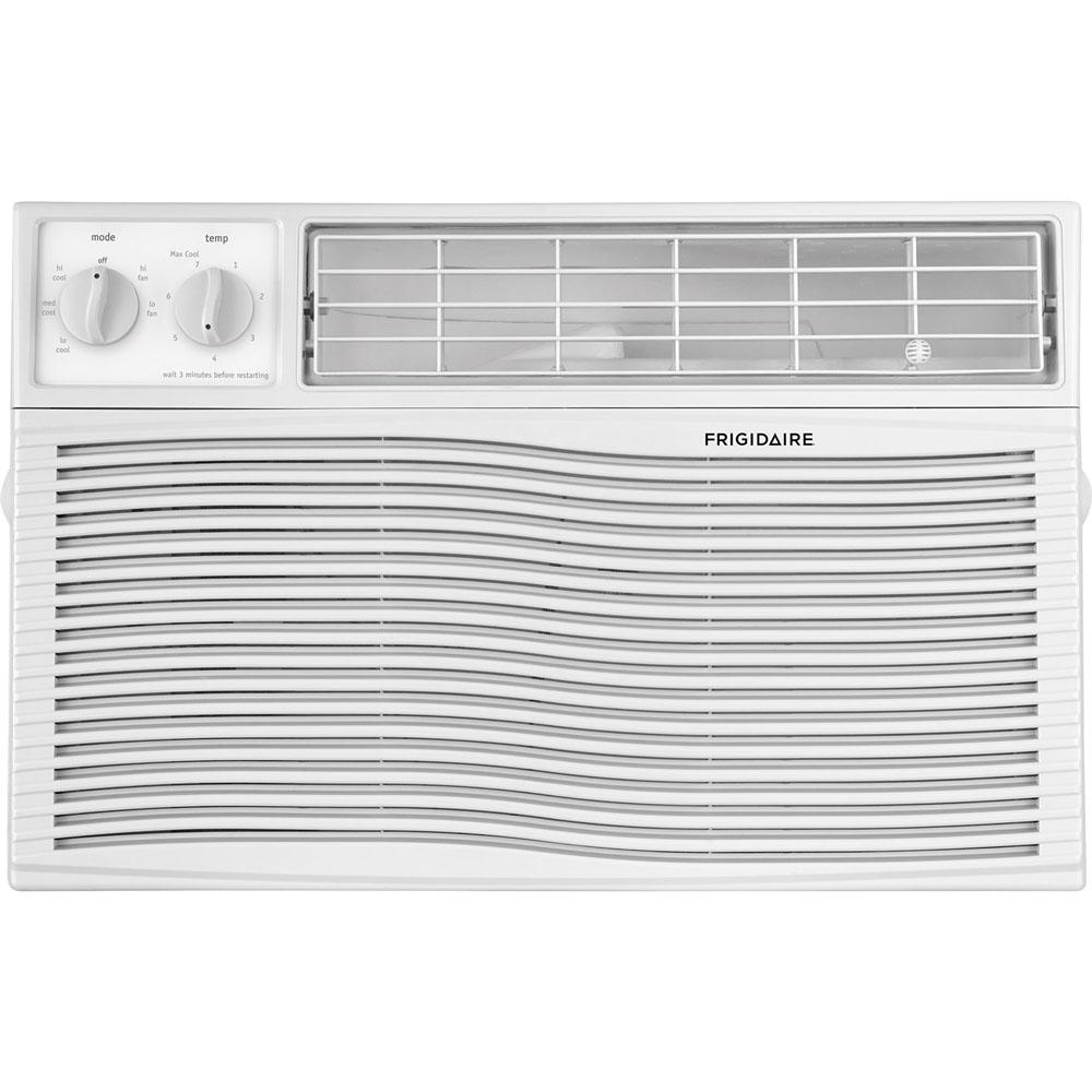 Frigidaire 6,000 BTU 115-Volt Window-Mounted Mini-Compact Air Conditioner with Mechanical Controls, White