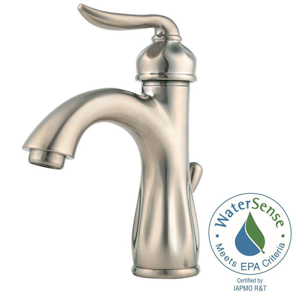 Pfister Venturi Single Hole Single-Handle Bathroom Faucet in Brushed ...